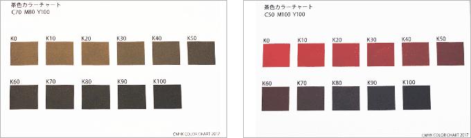 茶色の印刷色