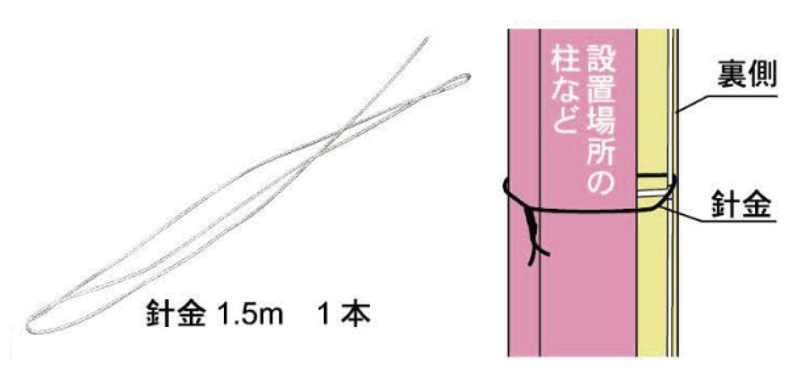 設置用の針金付き