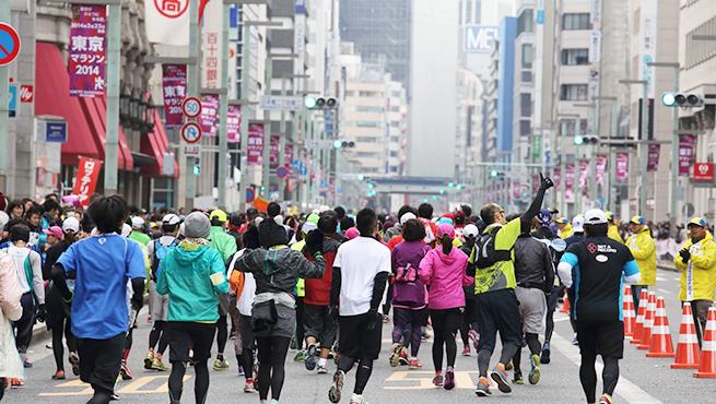 東京マラソンののぼり
