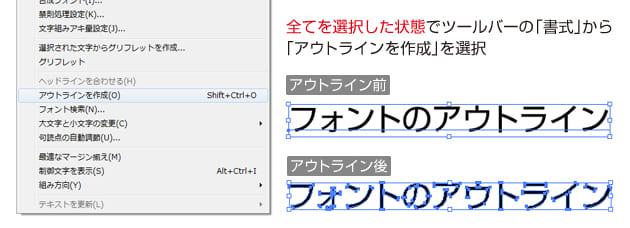 フォントはアウトラインを作成して保存して下さい。