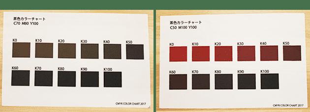 茶色の印刷色について
