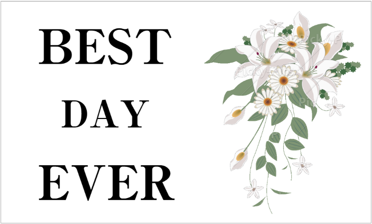 結婚式の横断幕デザイン(bestdayever)
