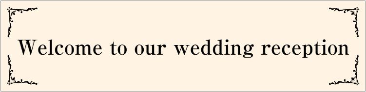 結婚式の横断幕デザイン(welcome)
