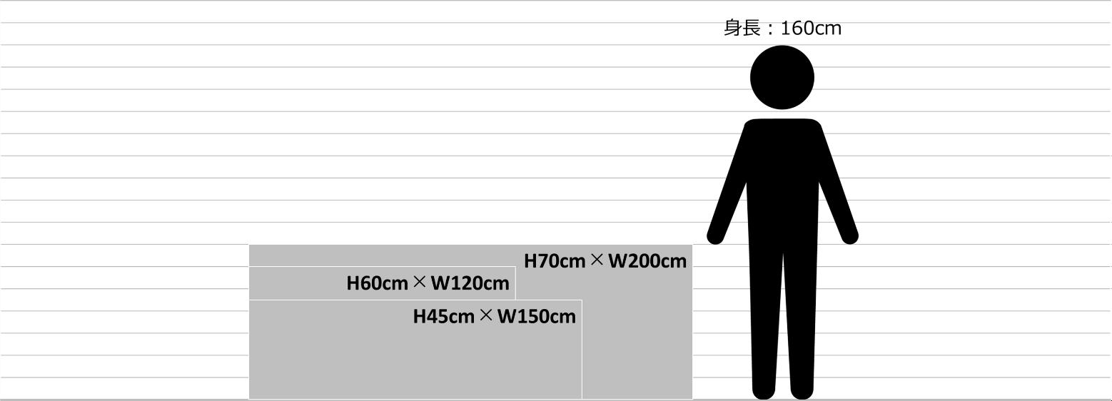 手持ち横断幕のサイズ