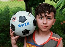 サッカー少年へメッセージ