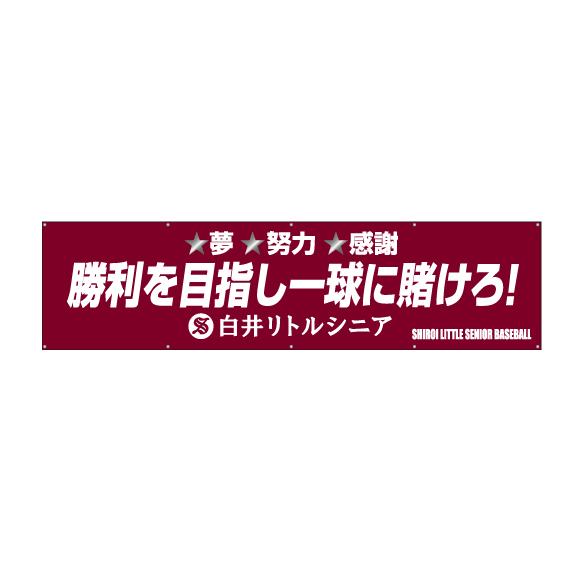 応援・チーム系_横断幕作成事例_少年野球チーム