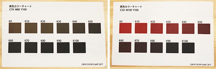 黒色・茶色の印刷色について
