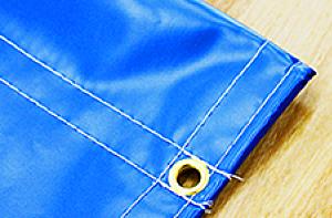 ハトメ加工+天地棒袋縫い加工