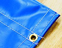 ハトメ加工+棒袋縫い加工