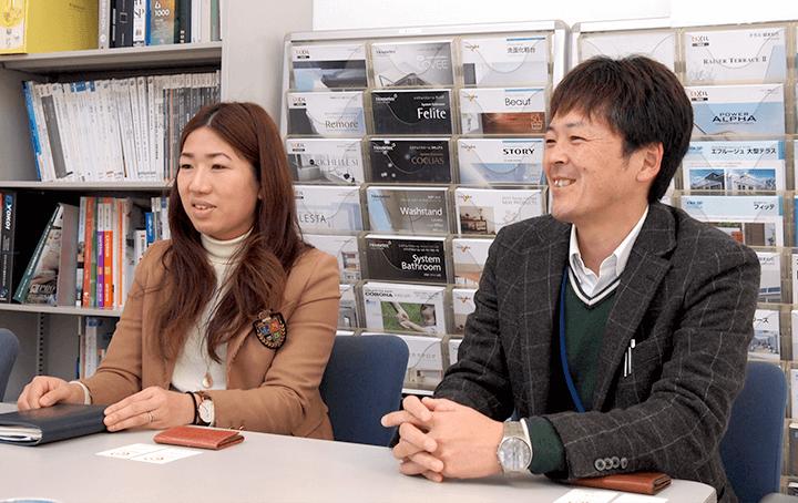 アイデアを考えられている企画課の後藤さんと荒木取締役