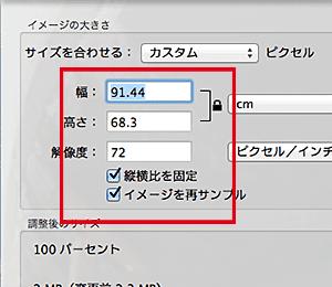 解像度の確認方法(Macintoshの場合)