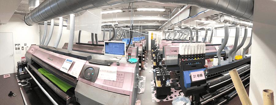 最新式の印刷機を20台以上保有!